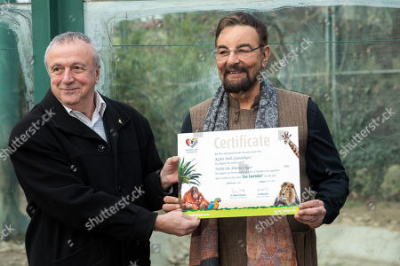 Editorial photo of Kabir Bedi adopts tiger in Budapest, Hungary - 15 Feb 2019