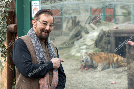 Indian actor and television presenter Kabir Bedi points at a male Siberian tiger named Norbi on the occasion of symbolically adopting him during his visit to Budapest Zoo, in Budapest, Hungary, 15 February 2019. Bedi, who is know for playing the role of the pirate Sandokan in the 1976 Italian television mini series of the same title, arrived to the Hungarian capital as a special guest of the Italian film score composer brothers Guido and Maurizio De Angelis who scored the soundtrack for 'Sandokan' and who are scheduled to perform a concert in Budapest on 16 February 2019.
