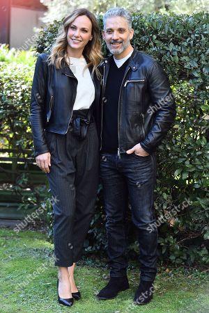 Stock Picture of Sara Zanier and Giuseppe Fiorello