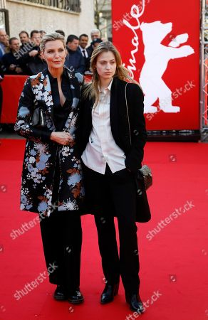 Nadja Auermann and her daughter Cosima pose during the photocall of 'Women Stories' during the 69th annual Berlin Film Festival, in Berlin, Germany, 15 February 2019. The documentary tells the story of Lindbergh, considered one of the most important photographers of the 20th century. The Berlinale runs from 07 to 17 February.
