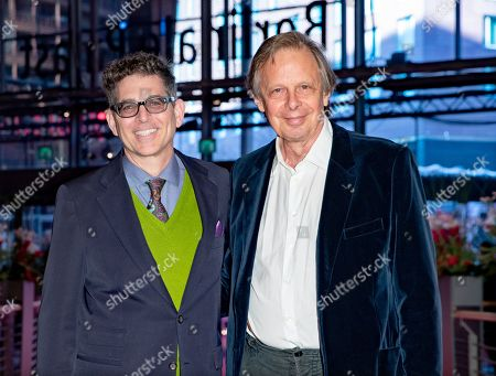 Alan Elliott (L) and producer Joe Boyd arrive for the premiere of 'Amazing Grace' during the 69th annual Berlin Film Festival, in Berlin, Germany, 15 February 2019. The movie is presented in the Official Competition at the Berlinale that runs from 07 to 17 February.