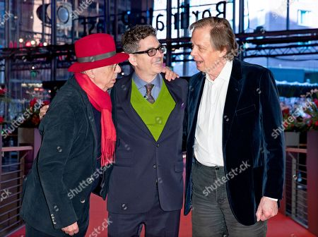 Festival director Dieter Kosslick, director Alan Elliott and producer Joe Boyd arrive for the premiere of 'Amazing Grace' during the 69th annual Berlin Film Festival, in Berlin, Germany, 15 February 2019. The movie is presented in the Official Competition at the Berlinale that runs from 07 to 17 February.