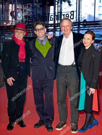Festival director Dieter Kosslick, director Alan Elliott, producer Joe Boyd and his wife Andrea Goertler arrive for the premiere of 'Amazing Grace' during the 69th annual Berlin Film Festival, in Berlin, Germany, 15 February 2019. The movie is presented in the Official Competition at the Berlinale that runs from 07 to 17 February.