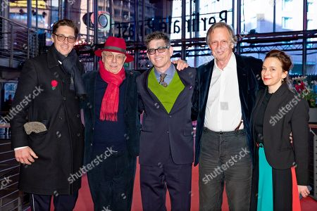 (2-L to R) Festival director Dieter Kosslick, director Alan Elliott, producer Joe Boyd and wife Andrea Goertler arrive for the premiere of 'Amazing Grace' during the 69th annual Berlin Film Festival, in Berlin, Germany, 15 February 2019. The movie is presented in the Official Competition at the Berlinale that runs from 07 to 17 February.