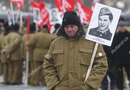 The veterans of Afghan war attend a ceremony marking the 30th anniversary of the Soviet pullout from Afghanistan, Moscow, Russia, 15 February 2019. Thirty years ago last Soviet troops under the command of General Boris Gromov crossed the Amu Darya river separating Afghanistan from Uzbekistan.