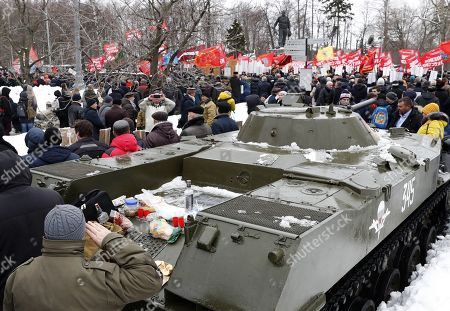 Editorial image of Ceremony marking the 30th anniversary of the Soviet withdrawal from Afghanistan, Moscow, Russian Federation - 15 Feb 2019