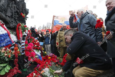 Stock Image of The veterans of Afghan war attend a ceremony marking the 30th anniversary of the Soviet pullout from Afghanistan, Moscow, Russia, 15 February 2019. Thirty years ago last Soviet troops under the command of General Boris Gromov crossed the Amu Darya river separating Afghanistan from Uzbekistan.