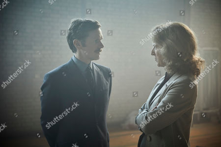 Stock Image of Shaun Evans as Endeavour and Abigail Thaw as Dorothea Frazil.