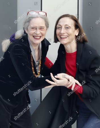 Actresses Carme Elias (R) and Vicky Pena (L) pose for the photographers during the presentation of the play 'Que paso con Bette Davis and Joan Crawford?' (lit. What happened with Bette Davis and Joan Crawford?) in Barcelona, Catalonia, Spain, 15 February 2019. The play runs from 27 February to 31 March 2019 at Theatre Akademia in Barcelona.