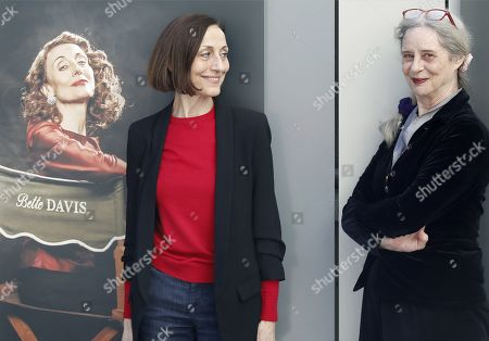 Stock Image of Actresses Carme Elias (R) and Vicky Pena (L) pose for the photographers during the presentation of the play 'Que paso con Bette Davis and Joan Crawford?' (lit. What happened with Bette Davis and Joan Crawford?) in Barcelona, Catalonia, Spain, 15 February 2019. The play runs from 27 February to 31 March 2019 at Theatre Akademia in Barcelona.