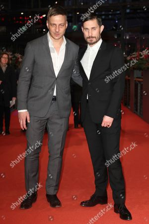 Clemens Schick (R) and Tom Wlaschiha arrive for the premiere of Marighella during the 69th annual Berlin International Film Festival in Berlin, Germany, 15 February 2019. The Berlinale runs from 07 to 17 February.