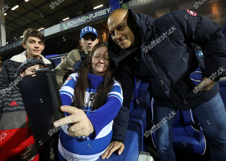 Former QPR player Bobby Zamora on the pitch at halftime