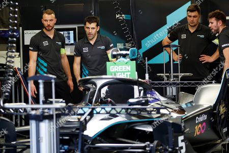 Mechanics of Belgium driver Stoffel Vandoorne, of team HWA Racelab, work a day before the fourth Grand Prix of Formula E at the Hermanos Rodriguez race track in Mexico City, Mexico, 15 February 2019.