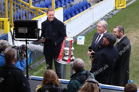 Football Focus giving an interview during the The FA Cup 5th round match between AFC Wimbledon and Millwall at the Cherry Red Records Stadium, Kingston
