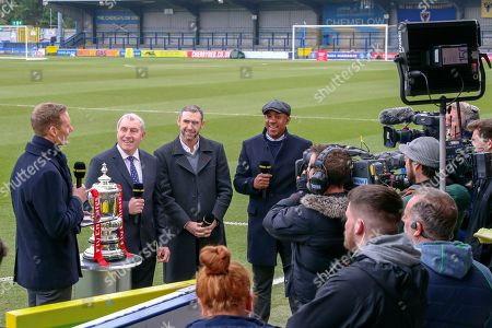 BBC Football Focus during the The FA Cup 5th round match between AFC Wimbledon and Millwall at the Cherry Red Records Stadium, Kingston