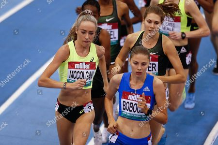 Eilish McColgan, Great Britain, Women's 3000m, during the Muller Indoor Grand Prix at Arena Birmingham, Birmingham