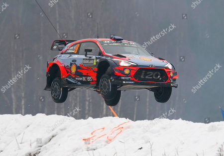 Sebastien Loeb of France in action during day 3 of the second round of the FIA World Rally Championship, Rally Sweden 2019, Sweden, 16 February 2019.