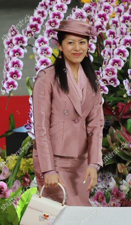 """Japan's Princess Tsuguko arrives at the opening ceremony for """"JGP International Orchid and Flower Show"""""""