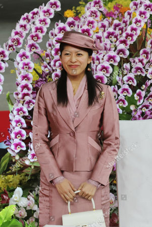 """Stock Image of Japan's Princess Tsuguko arrives at the opening ceremony for """"JGP International Orchid and Flower Show"""""""