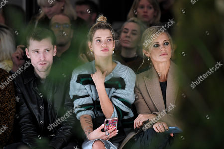 Pixie Geldof, George Barnett and Laura Bailey in the front row
