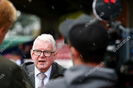 Stock Image of John Motson TalkSport  Commentator