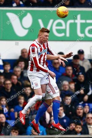 Bojan Krkic of Stoke City heads the ball