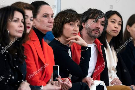 British actress Kristin Scott Thomas (C) attends a show by British designer Jasper Conran during the London Fashion Week 2019 in Central London, Britain, 16 February 2019. The LFW runs from 15 to 19 February.