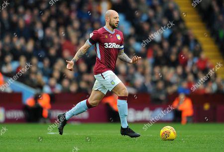 Alan Hutton of Aston Villa in action