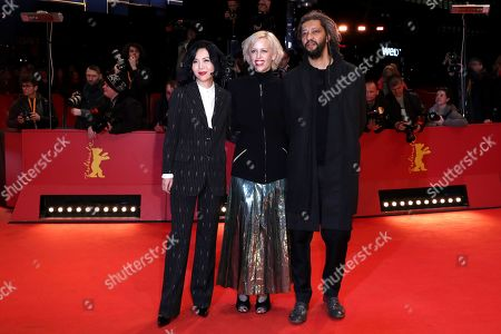 Vivian Qu, Katja Eichinger and Alain Gomis arrive for the Closing and Awards Ceremony during the 69th annual Berlin Film Festival, in Berlin, Germany, 16 February 2019. The Berlinale that runs from 07 to 17 February.