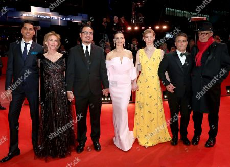 Jury members Rajendra Roy, Trudie Styler, Justin Chang, Juliette Binoche, Sandra Hueller, Sebastian Lelio and Festival director Dieter Kosslick arrive at the Closing and Awards Ceremony during the 69th annual Berlin Film Festival, in Berlin, Germany, 16 February 2019. The Berlinale that runs from 07 to 17 February.
