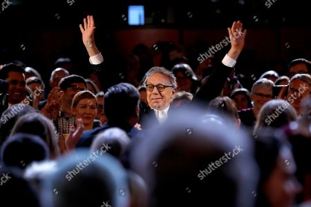 Festival director Dieter Kosslick greets during the Closing and Awards Ceremony during the 69th annual Berlin Film Festival, in Berlin, Germany, 16 February 2019. The Berlinale that runs from 07 to 17 February.