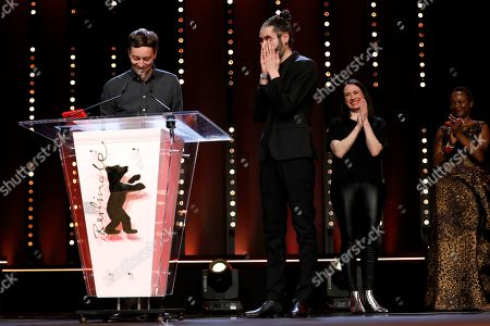 Florian Fischer and Johannes Krell receive the Golden Bear for Best Short Film for 'Umbra' at the closing and award ceremony of the 69th annual Berlin International Film Festival, in Berlin, Germany, 16 February 2019. The Berlinale runs from 07 to 17 February.