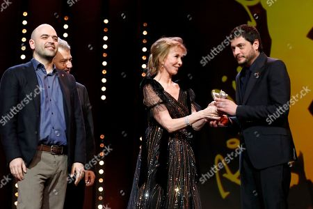 Maurizio Barucci, Claudio Giovannesi and Roberto Saviano receive the Silver Bear for Best Screenplay for 'La paranza dei bambini' (Piranhas) at the closing and award ceremony of the 69th annual Berlin International Film Festival, in Berlin, Germany, 16 February 2019. The Berlinale runs from 07 to 17 February.