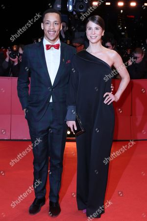 Jerry Hoffmann and Aylin Tezel arrive for the Closing and Awards Ceremony during the 69th annual Berlin Film Festival, in Berlin, Germany, 16 February 2019. The Berlinale that runs from 07 to 17 February.