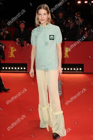 Aino Laberenz arrives for the Closing and Awards Ceremony during the 69th annual Berlin Film Festival, in Berlin, Germany, 16 February 2019. The Berlinale that runs from 07 to 17 February.