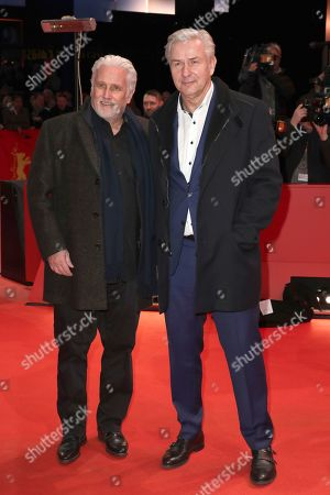 Stock Image of Joern Kubicki and Klaus Wowereit arrive for the Closing and Awards Ceremony during the 69th annual Berlin Film Festival, in Berlin, Germany, 16 February 2019. The Berlinale that runs from 07 to 17 February.