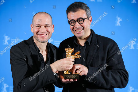 Stock Picture of Nadav Lapid (L) and Said Ben Said (R), winner of the Golden Bear for Best Film for 'Synonymes', poses at the closing ceremony of the 69th annual Berlin International Film Festival in Berlin, Germany, 16 February 2019. The Berlinale runs from 07 to 17 February.