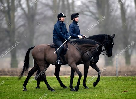 Prince Andrew out for an early morning ride, Windsor Castle