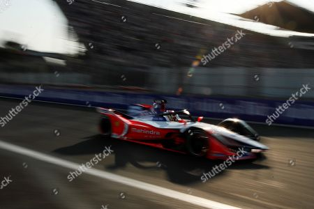Stock Photo of German driver Pascal Wehrlein of Mahindra Racing team competes in the Formula E Grand Prix of Mexico City at the Hermanos Rodriguez Autodrome in Mexico City, Mexico, 16 February 2019.