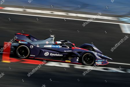 British driver Sam Bird of Envision Virgin Racing team competes in the Formula E Grand Prix of Mexico City at the Hermanos Rodriguez Autodrome in Mexico City, Mexico, 16 February 2019.