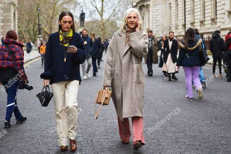 Editorial image of Street style Fall Winter 2019 London Fashion Week UK - 16 Feb 2019