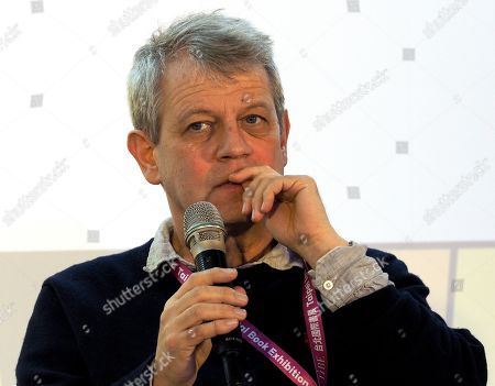 German writer and illustrator Axel Scheffler talks about illustration of children's books at the 2019 Taipei International Book Exhibition, in Taipei, Taiwan, 17 February 2019. The book fair, featuring 735 publishers from 52 countries and regions, runs from 12 to 17 February. Germany is the event's guest of honor this year.