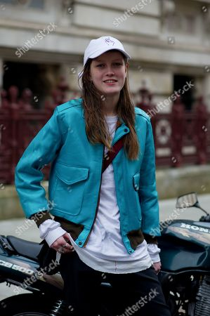 Stock Image of Model Tessa Bruinsma Street style