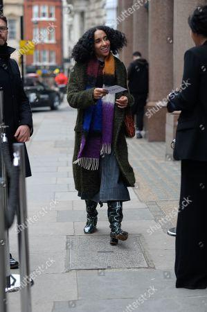 Editorial photo of Street style, Fall Winter 2019, London Fashion Week, UK - 16 Feb 2019