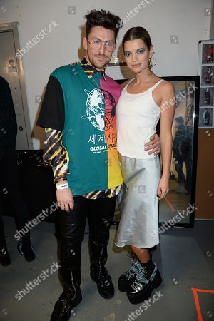 Pixie Geldof and Henry Holland backstage