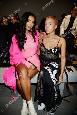 Maya Jama and Poppy Ajudha in the front row