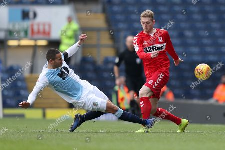 Jack Rodwell of Blackburn Rovers and George Saville of Middlesbrough