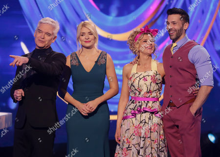 Phillip Schofield and Holly Willoughby with Jane Danson and Sylvain Longchambon