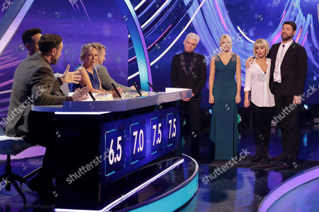 Jason Gardiner, Ashley Banjo, Jayne Torvill and Christopher Dean, Phillip Schofield and Holly Willoughby with Brian McFadden and Alex Murphy