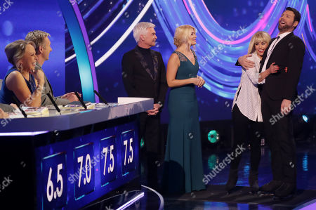 Jayne Torvill and Christopher Dean, Phillip Schofield and Holly Willoughby with Brian McFadden and Alex Murphy